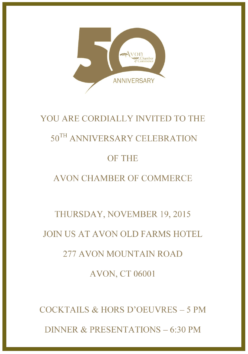Avon chamber of commerce events rsvp card stopboris Choice Image